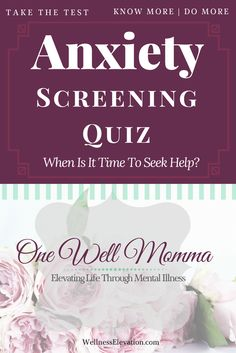 Could you be suffering from anxiety? Take this Anxiety Screen Quiz to help you determine if it's time see a professional. Health Anxiety, Anxiety Tips, Anxiety Help, Social Anxiety, Stress And Anxiety, How To Cure Depression