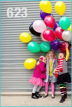 Bright colors, stripes and laughter!