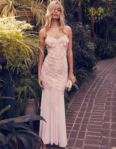 72b7f290d7048 Lipsy Vip 3d Flower Mesh Fishtail Maxi Dress Deb Dresses