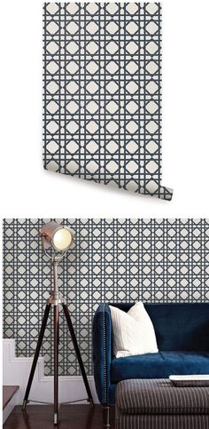 Moroccan dark gray peel stick wallpaper wall sticker for Wallpaper outlet