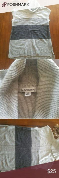 Croft and Barrow Gray sweater Suoer soft pull over sweater. Sleeveless, size Medium. Bought at Christmas, took tags off, never worn it. It's too big. Lightweight. croft & barrow Sweaters Cowl & Turtlenecks