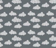 Geometric Clouds Organic Baby Blanket Custom Baby by JuteBaby