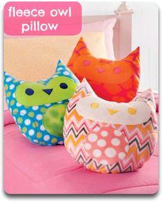 Cuddly #fleece owl pillows :) Extra #cute!