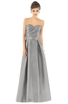 Alfred Sung D539 Bridesmaid Dress | Weddington Way-- like the darker grey. this is too light for fall / too close to the white -- but there is darker grey on the site.