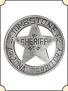Badge - Tombstone AZ Territory Sheriff  - Circle w/ Pierced Star