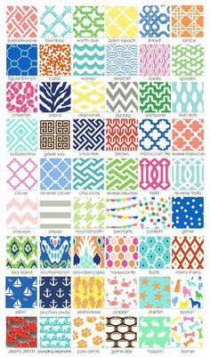 Popular Pattern Names Design Textile, Design Floral, Textile Patterns, Fabric Design, Print Patterns, Sewing Patterns, Types Of Patterns, Fun Patterns, Boho Pattern