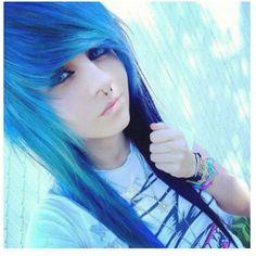 Blue Scene hair.