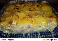 Zapečené brambory s uzeným masem a smetanou recept - TopRecepty.cz