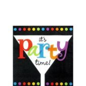 Its Party Time Beverage Napkins 16ct - Cocktail Napkins - Entertaining