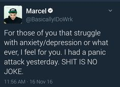 Poor Marcel :'( | BBS also I have that stuff a lot. It sucks.
