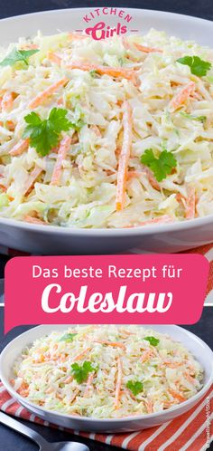 for Coleslaw like at KFC: /. /Recipe for Coleslaw like at KFC: /. / American coleslaw Hawaiian Cheesecake Salad comes together so simply with fresh tropical fruit and a rich and creamy cheesecake. Coleslaw Sandwich, Coleslaw Salad, Vegan Coleslaw, Kfc Coleslaw, Salad Recipes For Dinner, Pasta Recipes, Chicken Recipes, Snack Recipes, Delicious Recipes