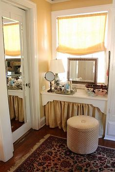 like the corner dressing table