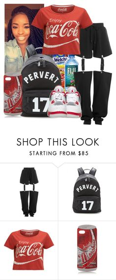 """""""coca cola"""" by eirinimaria ❤ liked on Polyvore featuring Poetic Justice, Puma, Givenchy, Moschino and NIKE"""
