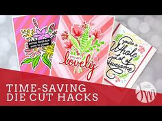 Hello and welcome! Today's video shares loads of time, energy and supply-saving hacks! I am hoping you will learn a few things to help you with your crafting. Card Making Tips, Card Making Tutorials, Card Making Techniques, Making Ideas, Saving Tips, Time Saving, Script Words, Jennifer Mcguire Ink, How To Make Paper