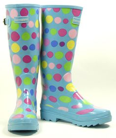 Whimsical Wellies.  Why should a rainy day be dull?