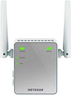 NETGEAR Mini N300 Mbps Wi-Fi Range Extender with External Antennas (Wi-Fi Booster) (EX2700-100UKS)
