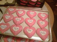 My traditional valentine shortbread cookies