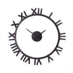 Don't let time get you down. Constructed of a circular metal frame with roman numerals to mark the hours, this unique timepiece has a face that appears to float in the center. Great for use on smooth and textured wall surfaces.