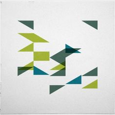 #499 Flock – A new minimal geometric composition each day