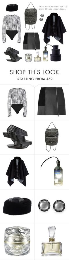 """""""black diamond"""" by nieboskakara ❤ liked on Polyvore featuring Elizabeth Kennedy, Alexander Wang, UN United Nude, Chanel, Burberry, Gucci, Zoccai, Decorté, Norell and Elite"""
