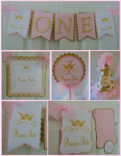 Pink and Gold Princess 1st Birthday Party by ASweetCelebration