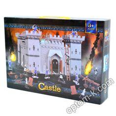Купити Набір лицарський: фортеця - 28х28x29 см, фігурки та інші предмети, в коробці 35х7х25 см оптом. Вигідна ціна в Україні! Castle, Electronics, Castles, Consumer Electronics