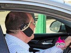 because a rubber band is cheaper than bluetooth.      my husband for sure