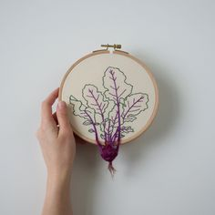 Garden Vegetable and Plant Embroideries by Veselka Bulkan | Colossal