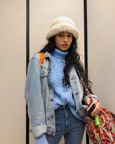 Cute Fashion, Retro Fashion, Korean Fashion, Womens Fashion, Latest Fashion, Outfits With Hats, Mode Outfits, Fashion Outfits, Fashion Ideas