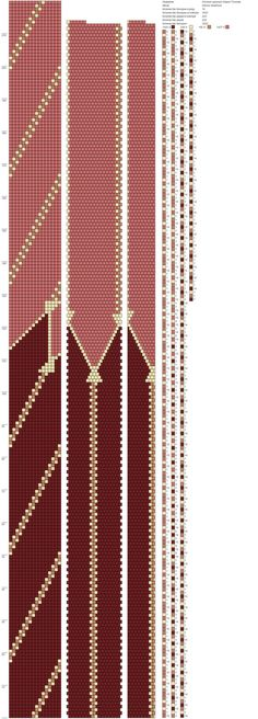 Схемы жгутов из бисера крючком от Марии Глуховой   VK