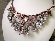 Copper wire Butterfly Necklace