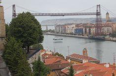 Puente colgante entre #Portugalete y #Getxo