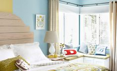 Corner Bench Seat  Use stock cabinets to build a simple DIY window seat project and transform any corner into a cozy bedroom or living room nook