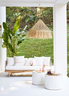 Mediterranean-style alfresco lounging—House 10. By Three Birds Renovations x Sophie Bell, featuring Dulux White on White.
