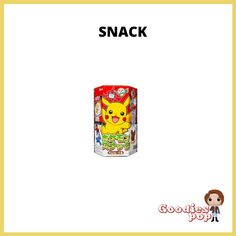 Pokemon Snacks, Pikachu, Boutique, Wrapping, Sticker, Gaming, Boutiques