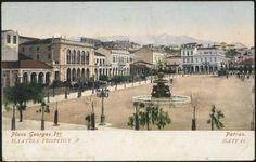 Η πλατεία Γεωργίου προς την Άνω Πόλη, δεκαετία 1900 από τη σελίδα  sto facebook Πάτρα.