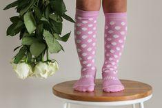 Lamington merino wool socks Gelato pink white spots kids fashion Merino Wool Socks, Knee High Socks, Strawberries And Cream, Pink Candy, Gelato, Pink White, Kids Fashion, Dance Shoes, Collection