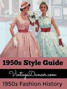 1950s Style Guide- FREE 30 article email series all about 1950s women's fashion.