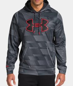 Men's UA Storm Armour® Fleece Printed Big Logo Hoodie | Under Armour US (XXL)