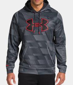 Men's UA Storm Armour® Fleece Printed Big Logo Hoodie | Under Armour US (XXL)