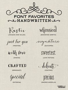 Handwritten Fonts for all of your creative and DIY projects, blogging, graphic design, web design and more!