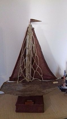 Handmade Driftwood Table Art Boats Collection Sailing Boat Home Decor Office Dec #Handmade #ArtsCraftsMissionStyle