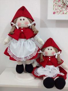 dupla de boneca chapeuzinho vermelho