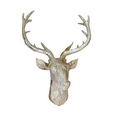 Design 55 Wall Decor Gold Sparkly Stag Head Wall Art