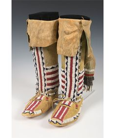 Cheyenne Woman's Beaded Moccasins and Leggings
