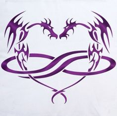 Dragon infinite heart tattoo- this would be perfect if i could find it in a cross instead of heart!!!