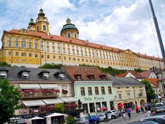 this beautiful example of baroque architecture, the monastery in Melk, Austria dominates the entire town.