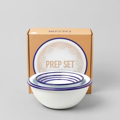 Prep Set - White & Blue