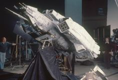 The #Nostromo model behind the scenes on #Alien (1979)