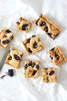 blackberry almond tart
